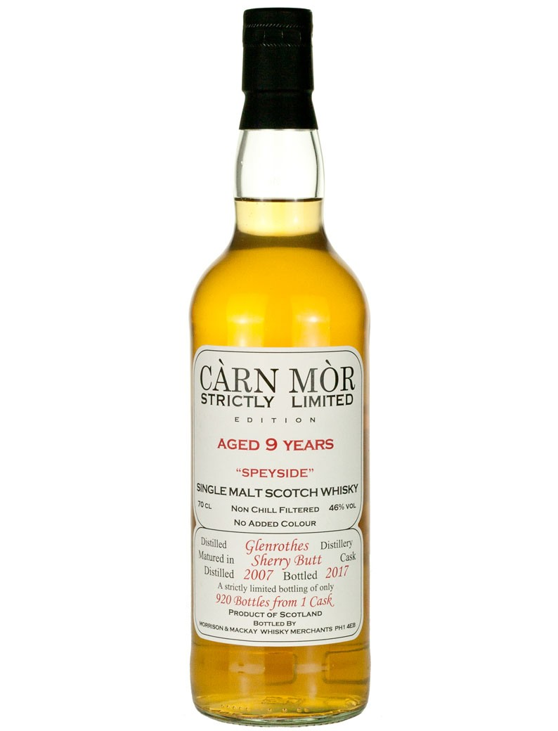 Glenrothes 9 Year Old 2007 Carn Mor Strictly Limited